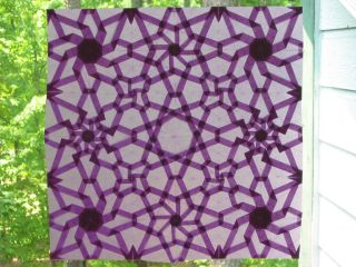 Purple octagons