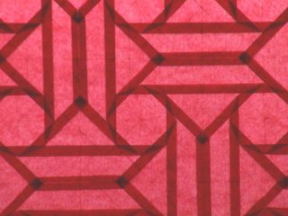 Red octagons (open back 2) detail